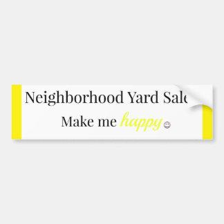 Los mercadillos caseros de la vecindad me hacen el pegatina para auto