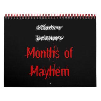 Los meses de Leitner de la sombra de la mutilación Calendarios