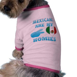 Los mexicanos son mi Homies Camiseta Con Mangas Para Perro