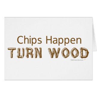 Los microprocesadores suceden vuelta Woodturning Tarjeta De Felicitación