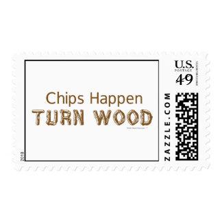 Los microprocesadores suceden vuelta Woodturning Timbre Postal