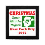 Los milagros de la causa del navidad suceden 1947 cajas de joyas