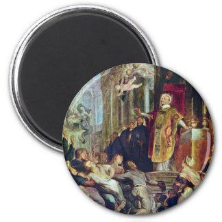 Los milagros de St Ignatius de Loyola de Rubens Imán Redondo 5 Cm