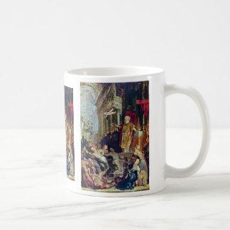Los milagros de St Ignatius de Loyola de Rubens Tazas De Café
