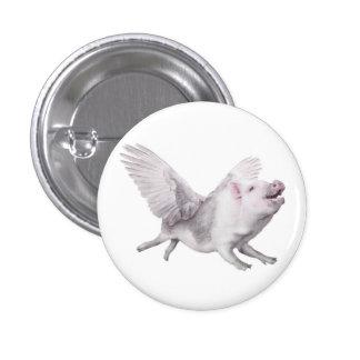 Los milagros del cerdo del vuelo suceden cuando lo pin redondo de 1 pulgada
