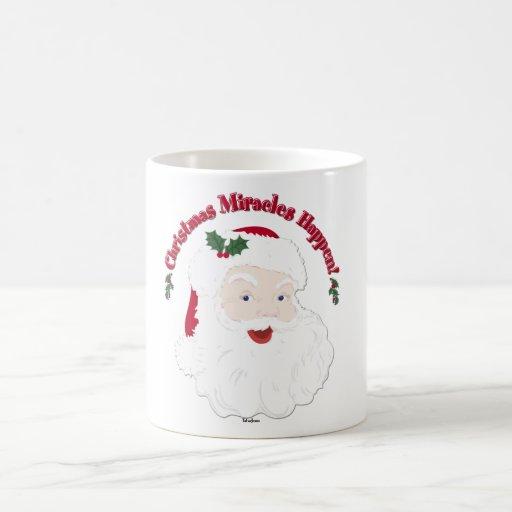 ¡Los milagros del navidad de Santa del vintage Taza De Café