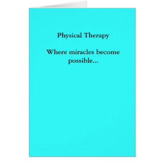 Los milagros físicos de TherapyWhere llegan a ser Tarjeta De Felicitación