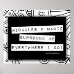 Los milagros positivos de la afirmación mágicos me posters
