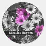 Los milagros suceden pegatina inspirado de las