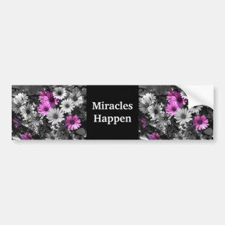 Los milagros suceden pegatina para el parachoques  pegatina de parachoque