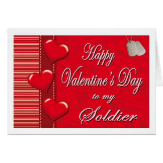 Los militares a mi tarjeta del día de San Valentín