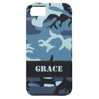 Los militares azules adaptables camuflan funda para iPhone SE/5/5s