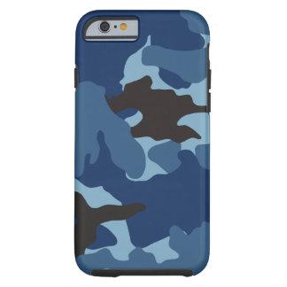 Los militares azules de Camo camuflan iPhone duro Funda Resistente iPhone 6