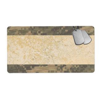 Los militares camuflan con las placas de identific etiqueta de envío