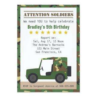 Los militares camuflan cumpleaños del muchacho del comunicado personalizado
