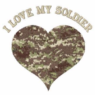 """Los militares camuflan el corazón """"amo que polo bordado"""