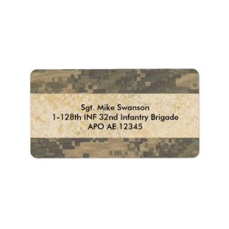 Los militares camuflan etiquetas de dirección