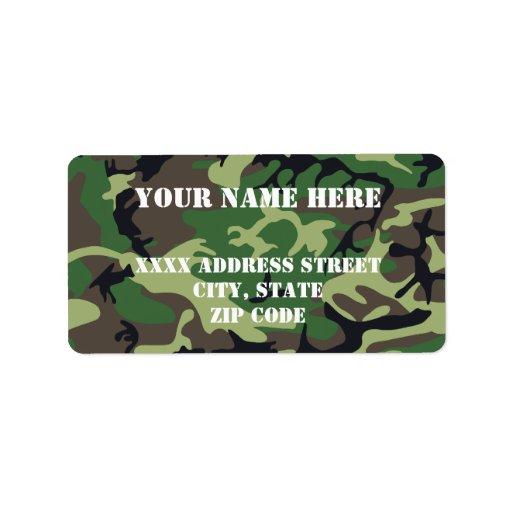 Los militares camuflan etiqueta de dirección