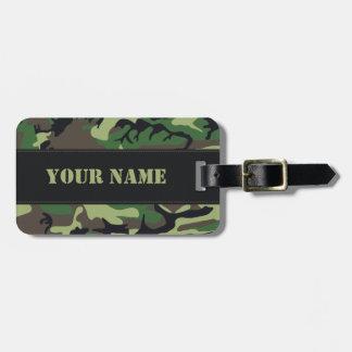 Los militares camuflan etiquetas para maletas