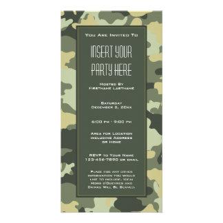 Los militares camuflan la invitación del fiesta tarjeta fotográfica personalizada