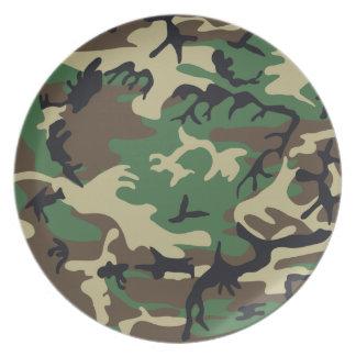 Los militares camuflan la placa plato para fiesta