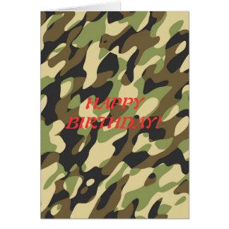 Los militares camuflan la tarjeta de cumpleaños