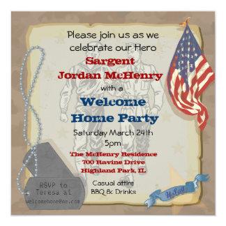Los militares caseros agradables del héroe van de invitaciones personalizada