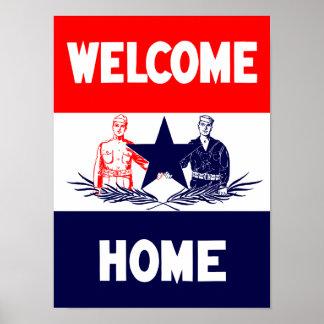 Los militares caseros agradables del vintage póster