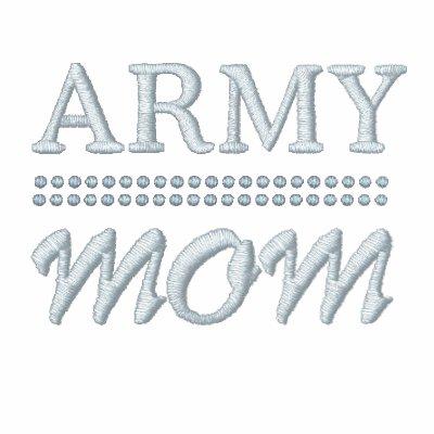 Los militares de la mamá del ejército se enorgulle sudadera bordada con serigrafia