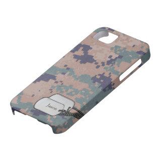 Los militares del color de Digitaces Forrest iPhone 5 Carcasas