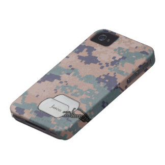Los militares del color de Digitaces Forrest Case-Mate iPhone 4 Protectores