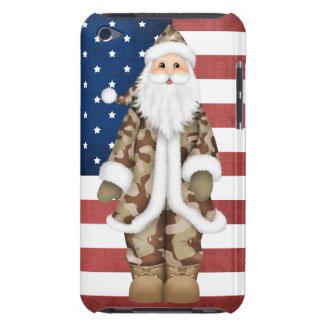 Los militares del navidad camuflan la caja de Sant iPod Touch Case-Mate Cárcasas