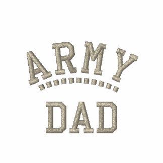 Los militares del papá del ejército engendran sudadera bordada con capucha
