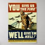 Los militares del vintage les dan el poster del in