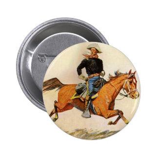 Los militares del vintage, una caballería mandan pin redondo de 2 pulgadas