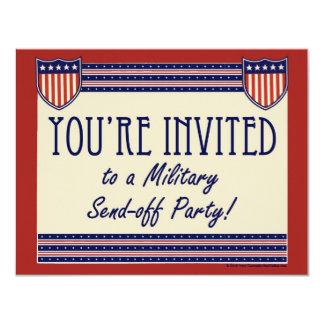 Los militares Envían-apagado invitaciones del Invitación