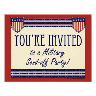 Los militares Envían-apagado invitaciones del fies Invitación