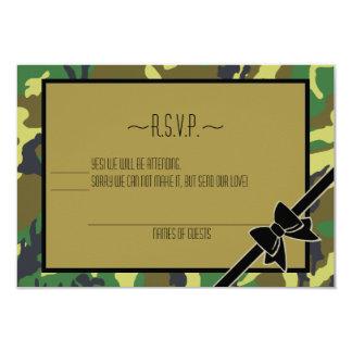 """Los militares envían de Fiesta-RSVP Invitación 3.5"""" X 5"""""""