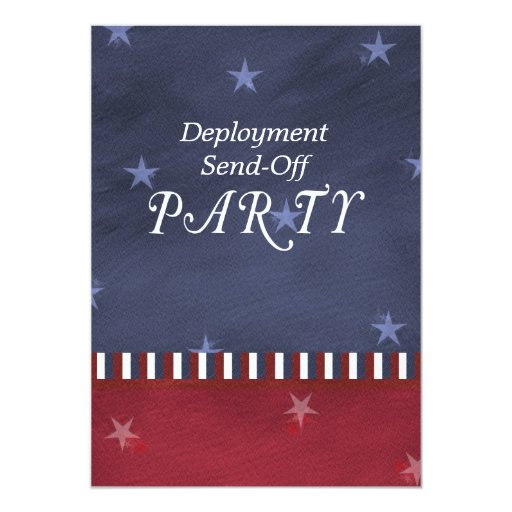 Los militares envían de la invitación del fiesta