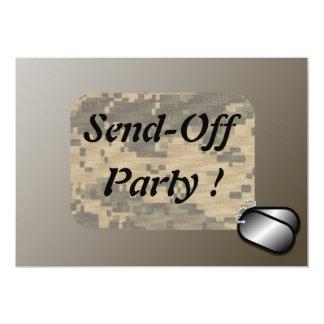 Los militares envían del fiesta - revisado invitacion personalizada