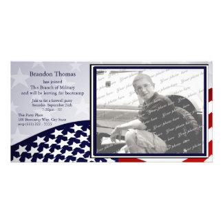 Los militares envían tarjetas fotograficas personalizadas