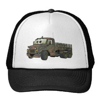 Los militares estacan el dibujo animado del camión gorra