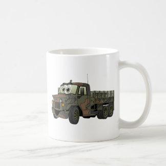 Los militares estacan el dibujo animado del camión tazas de café