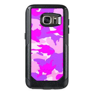 Los militares femeninos púrpuras rosados de Camo Funda Otterbox Para Samsung Galaxy S7