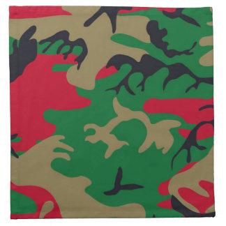Los militares modernos frescos camuflan diseño servilletas