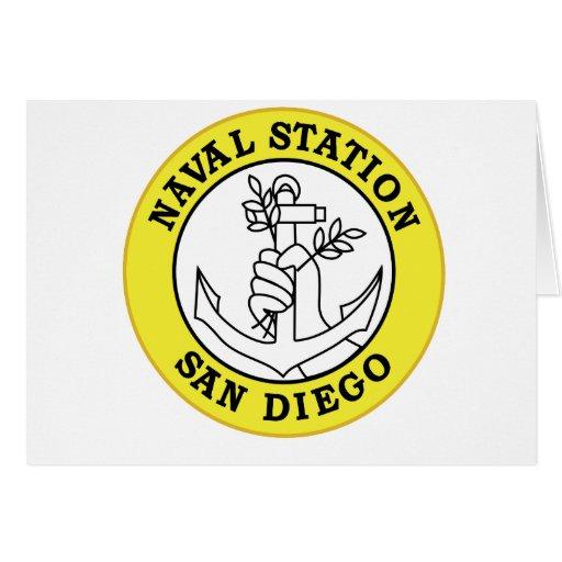 Los militares navales de California de la estación Felicitación