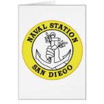 Los militares navales de California de la estación Tarjeta