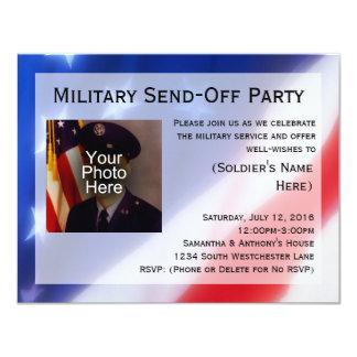 """Los militares patrióticos de la foto invitación 4.25"""" x 5.5"""""""