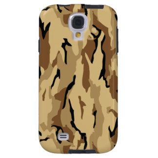 Los militares temáticos de madera de Brown camufla Funda Para Galaxy S4