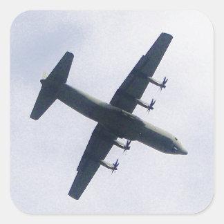 Los militares transportan los aviones pegatina cuadrada